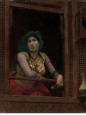 Woman At A Balcony By Jean Leon Gerome Ferris