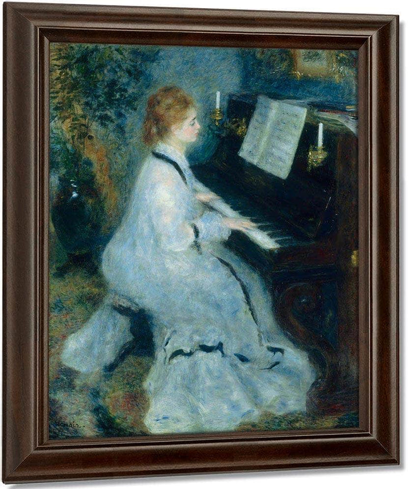 Woman At The Piano By Pierre August Renoir