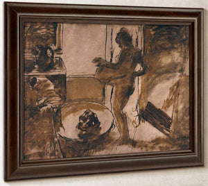 Woman Drying Herself (Femme Au Tub) By Edgar Degas