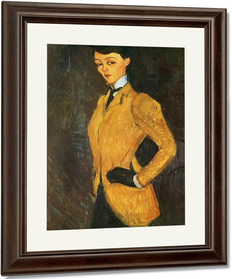 Woman In Yellow Jacket1909 By Amedeo Modigliani