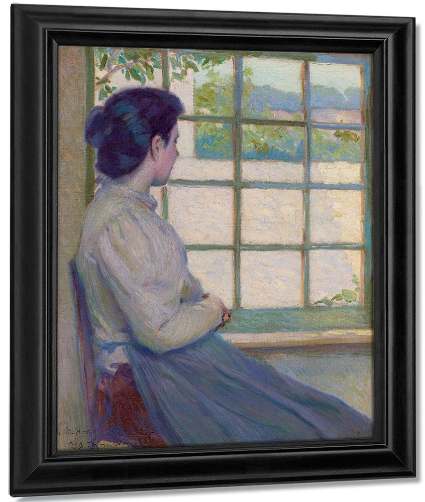 Woman Looking Out A Window Portrait Of A.M. Hooey 1895 By John La Farge