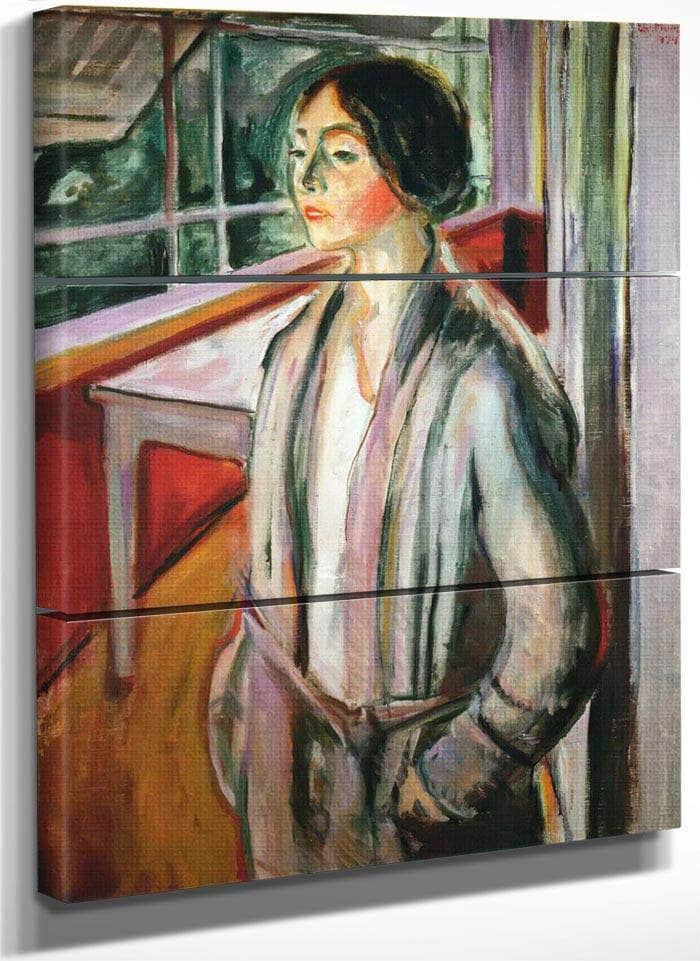 Woman On The Verandah1924 By Edvard Munch