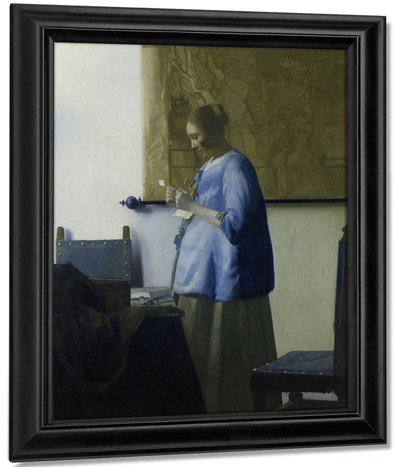 Woman Reading A Letter 1663 By Johannes Vermeer