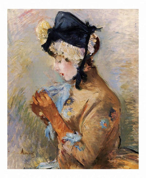 Woman Wearing Gloves Aka The Parisian 1885 Private Collection by Berthe Morisot Wall Art from Truly Art