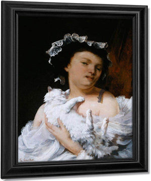 Woman With A Cat By Gusave Courbet