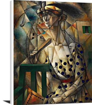 Woman With A Fan Painting Jean Metzinger Canvas Art
