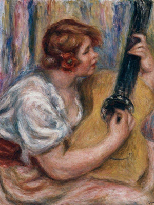 Woman With A Guitar By Pierre August Renoir