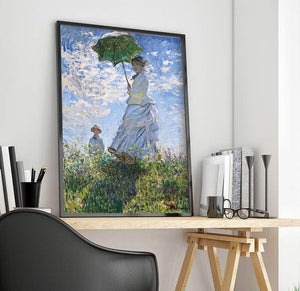 Woman With A Parasol Painting Claude Monet Canvas Art