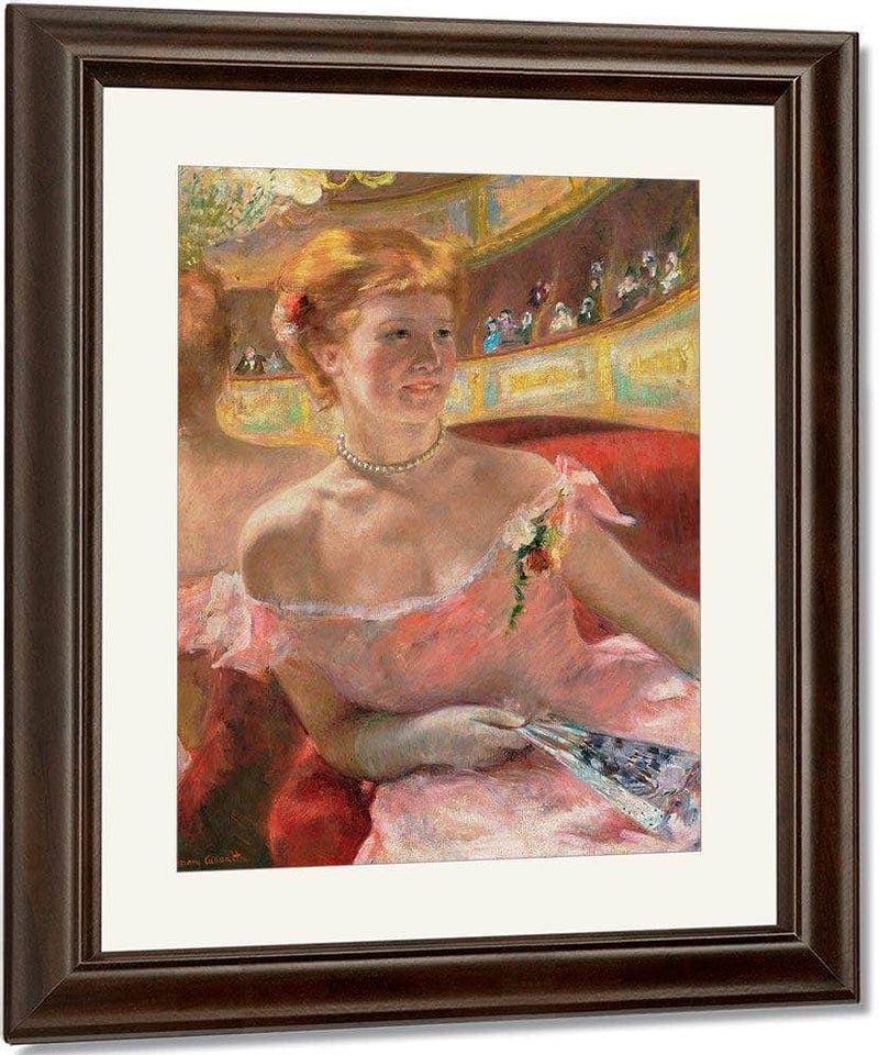 Woman With A Pearl Necklace In A Loge By Cassatt Mary