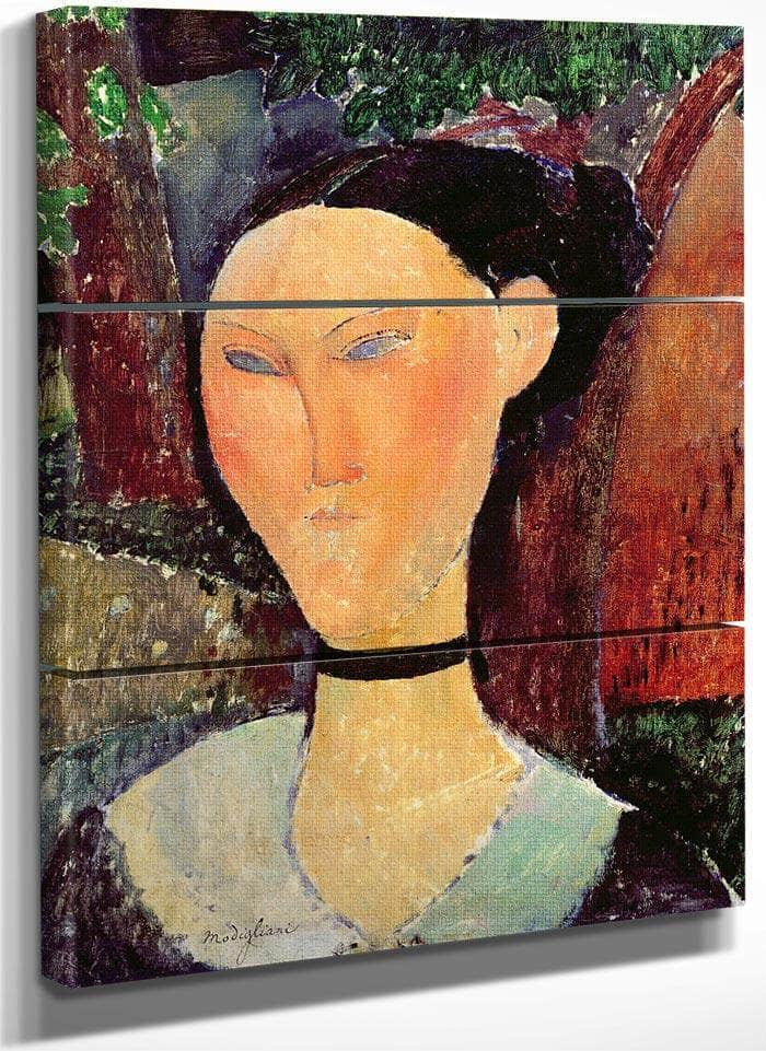 Woman With A Velvet Neckband By Amedeo Modigliani