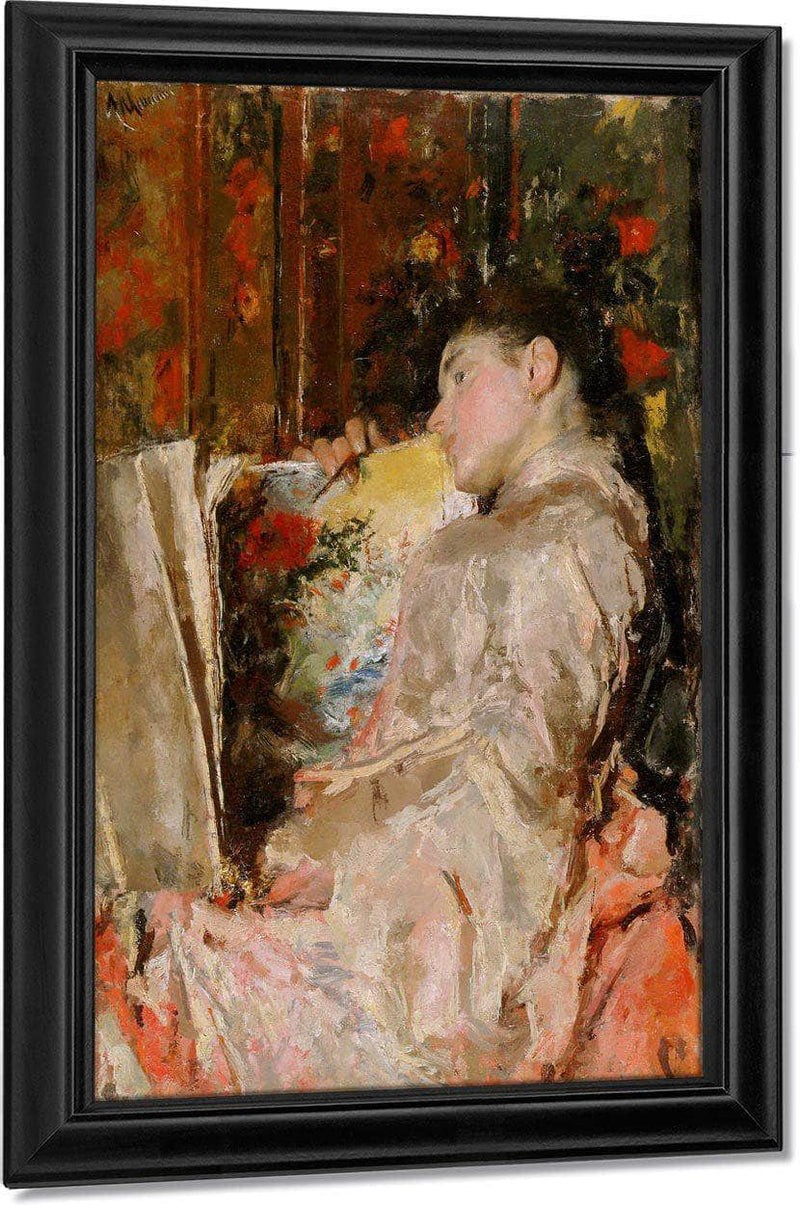 Woman With An Album By Antonio Mancini