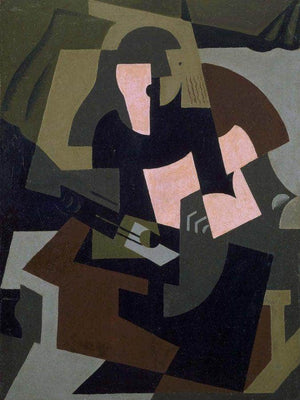 Woman With Guitar 1917 By Maria Blanchard
