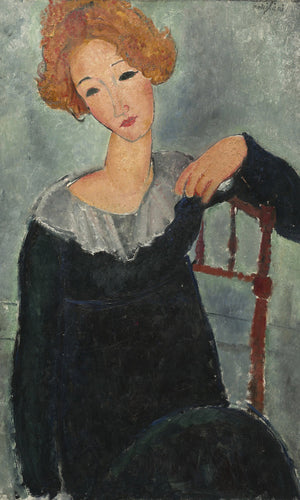 Woman With Red Hair By Amedeo Modigliani