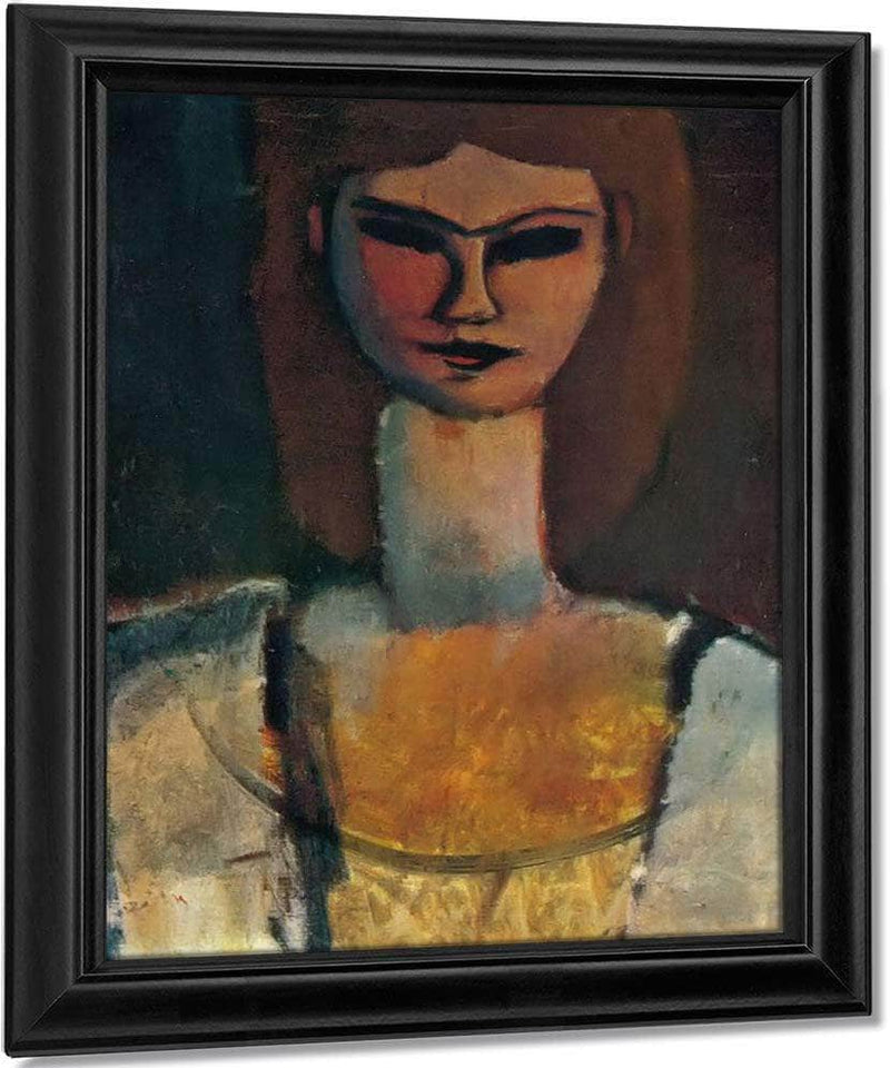 Womans Head1910 By Amedeo Modigliani