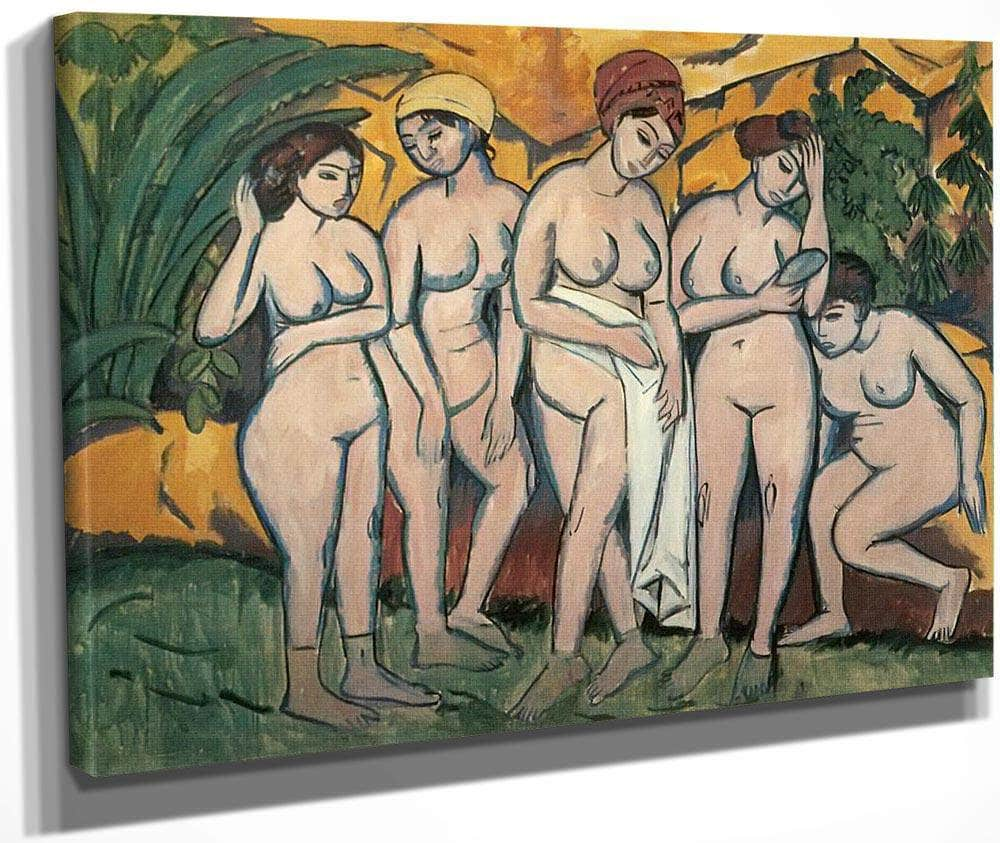 Women Bathing By Ernst Ludwig Kirchner