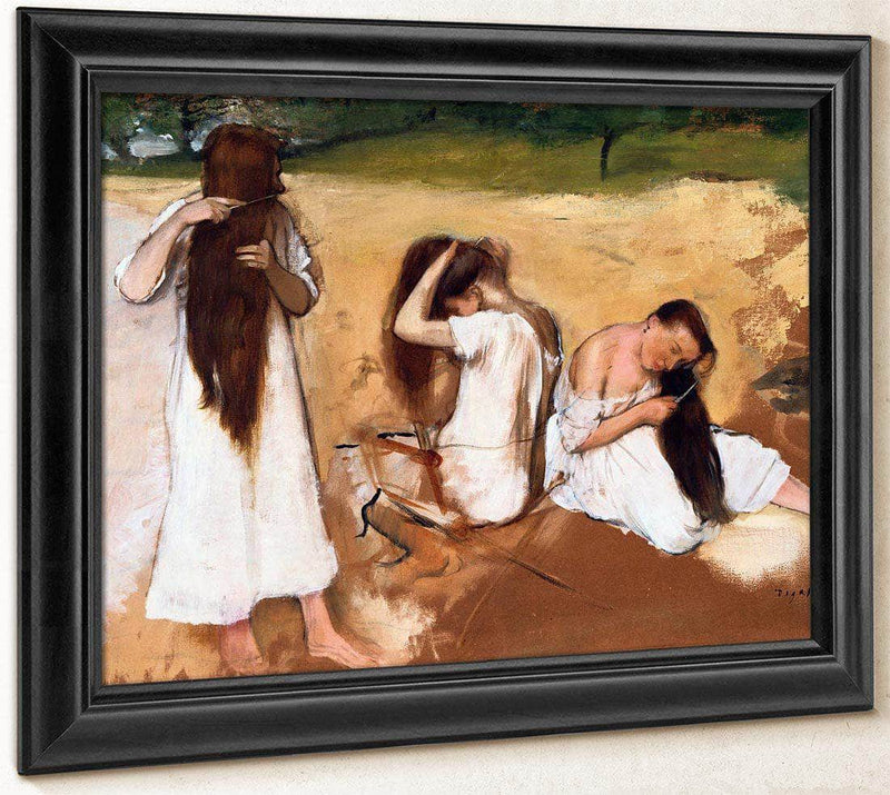Women Combing Their Hair By Edgar Degas By 01