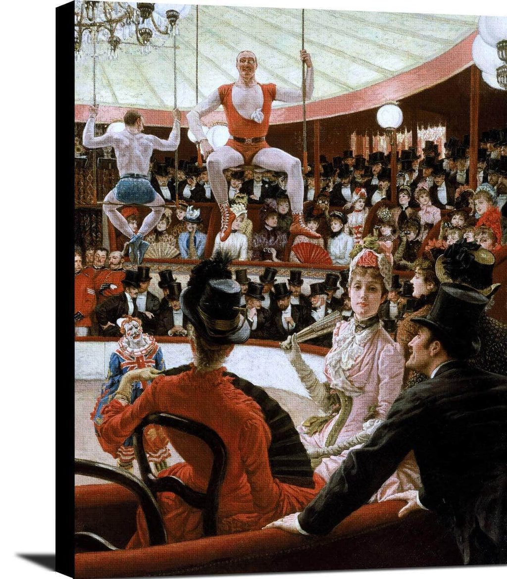 Women Of Paris The Circus Lover Painting James Tissot Canvas Art