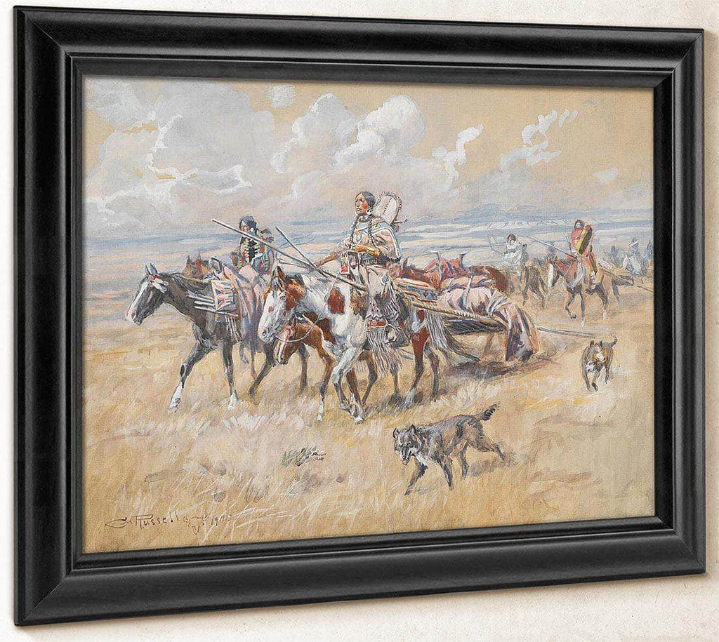 Women Of The Plains By Charles Marion Russell