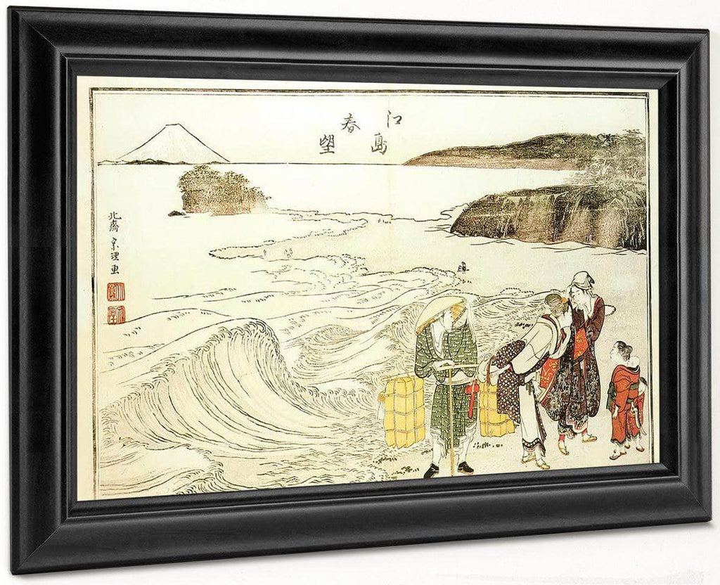 Women On The Beach At Enoshima By Hokusai