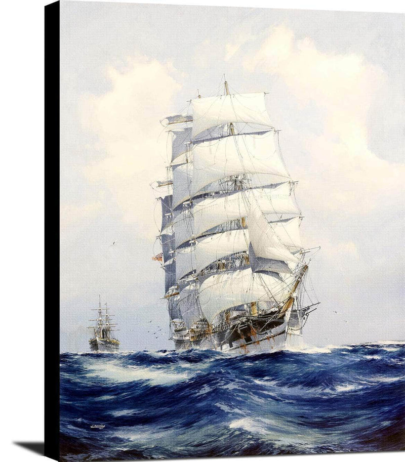 Wool Clipper Argonaut Under Full Sail Painting Jack Spurling Canvas Art