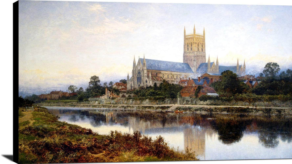 Worcester Cathedral Painting Benjamin Williams Leader Canvas Art