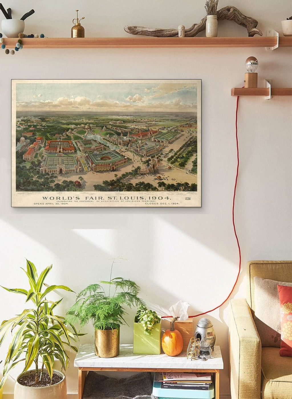 World's Fair St Louis 1904 Vintage Map