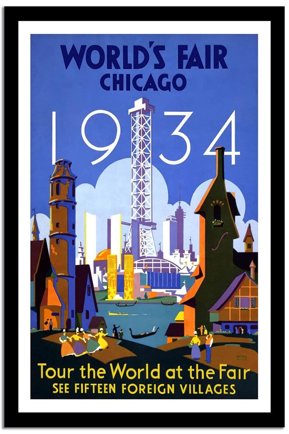 World's Fair Chicago  Vintage Poster