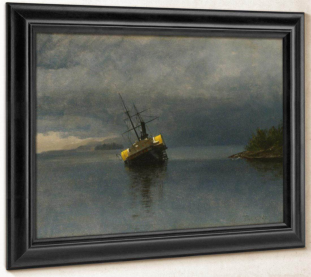 Wreck Of The Ancon In Loring Bay Alaska By Albert Bierstadt