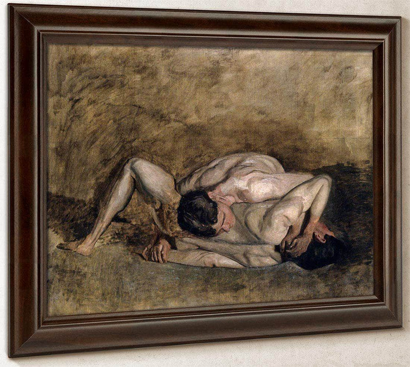 Wrestlers By  Eakins Thomas