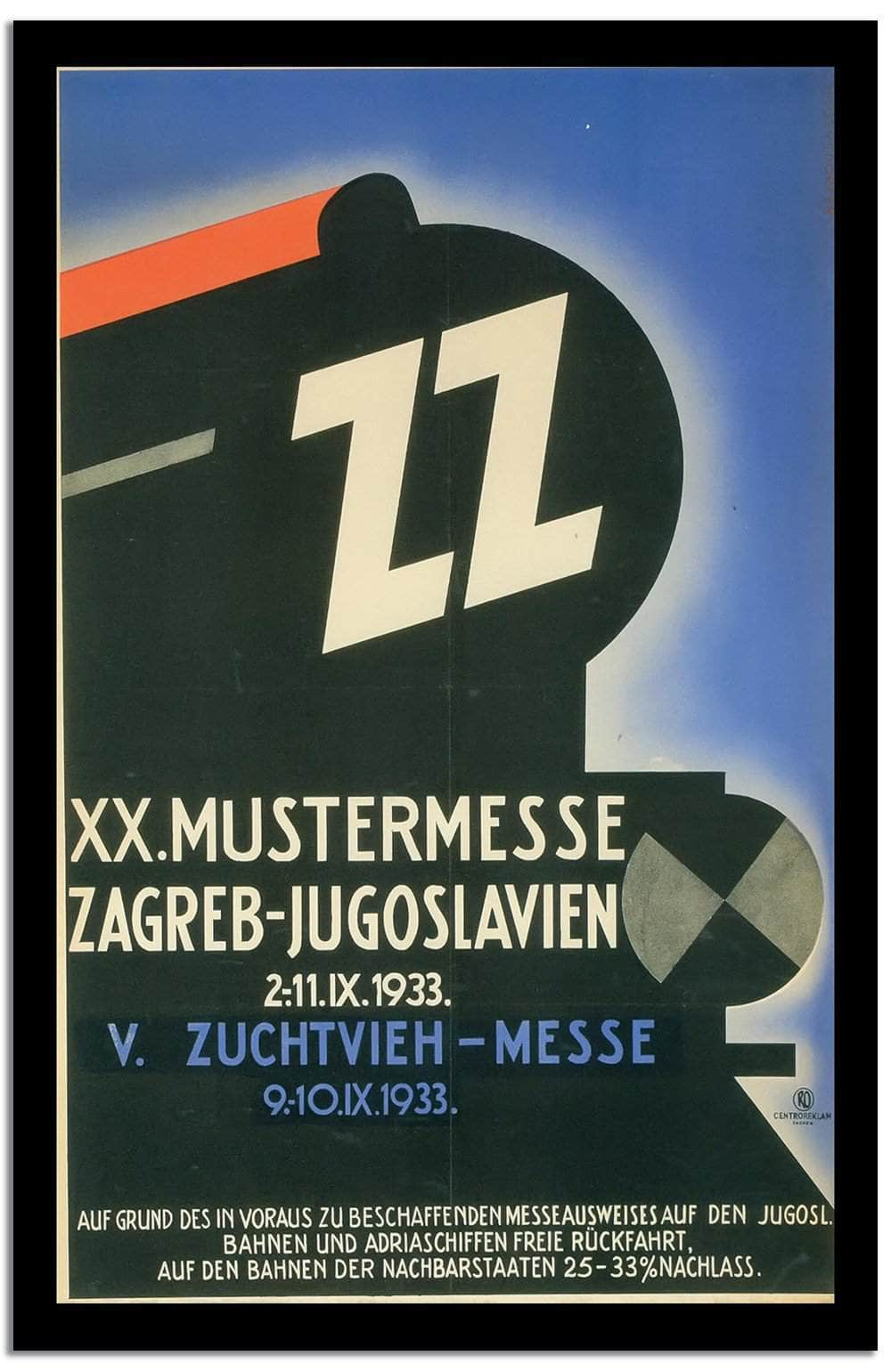 Xx.mustermesse  Vintage Poster
