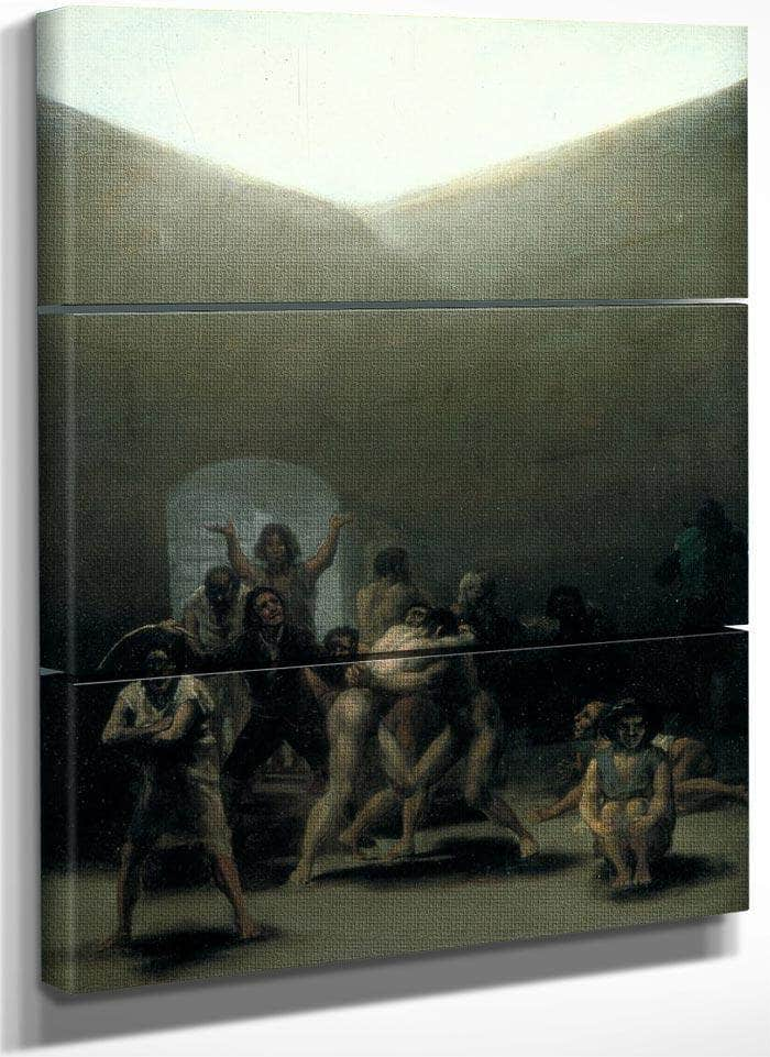 Yard With Lunatics 1794 Oil On Tin Plated Iron 43 8X32 7Cm By Francisco De Goya
