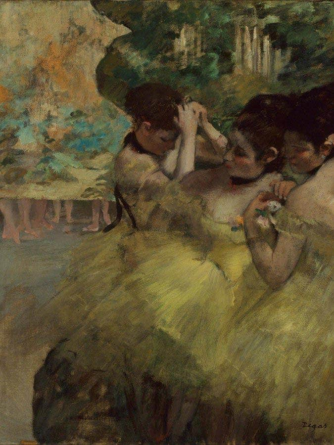 Yellow Dancers (In The Wings) By Edgar Degas