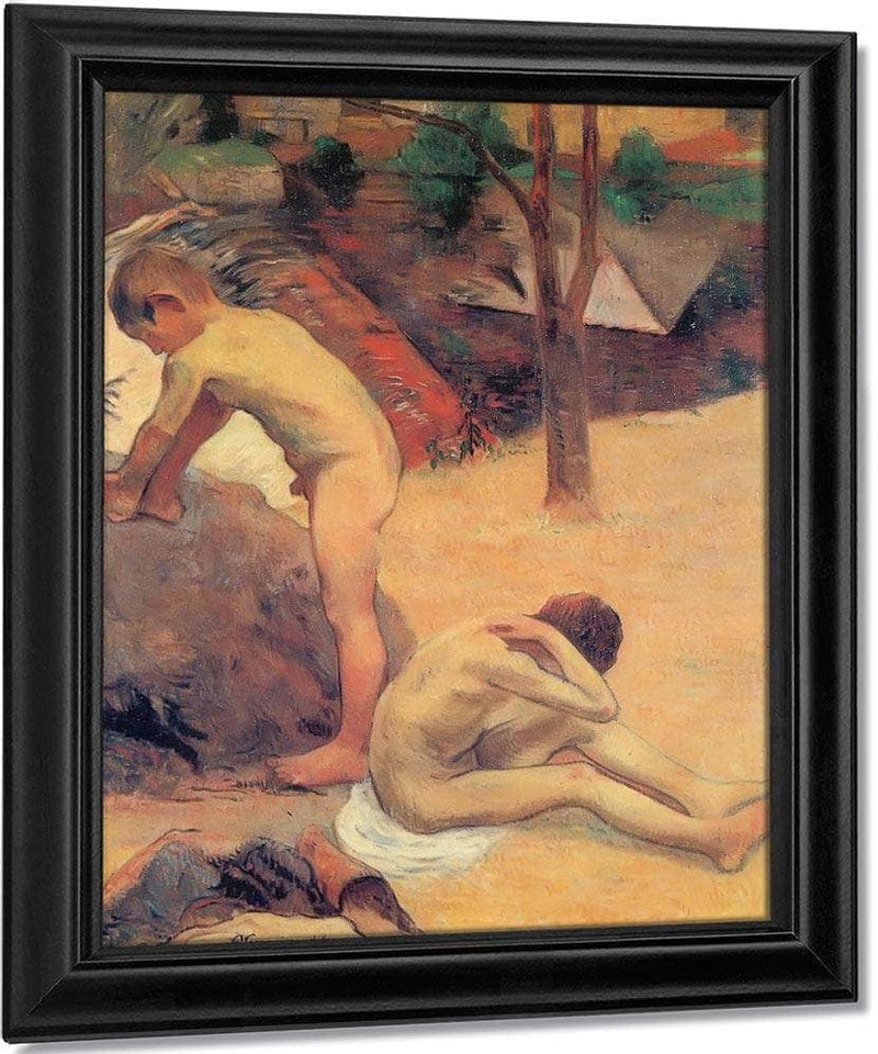 Young Breton Bathers By Paul Gauguin