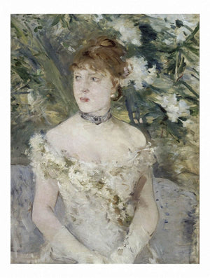 Young Girl In A Ball Gown 1879 54x71cm by Berthe Morisot Wall Art from Truly Art