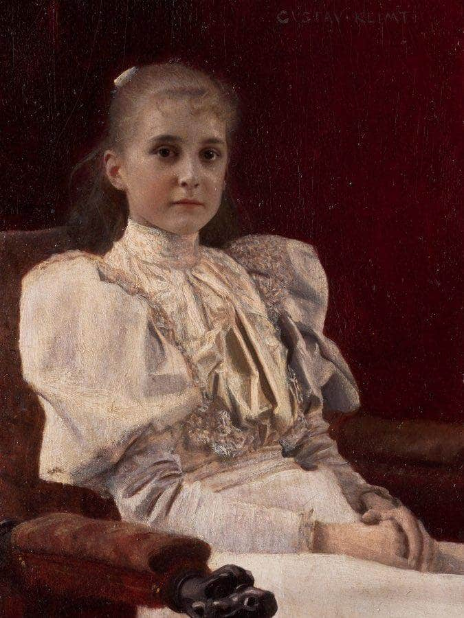 Young Girl Seated 1894 Leopold Museum By Gustav Klimt