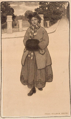 Young Girl With Muff By Jessie Willcox Smith