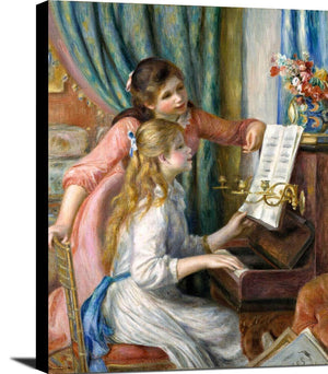 Young Girls At The Piano Painting Auguste Renoir Canvas Art