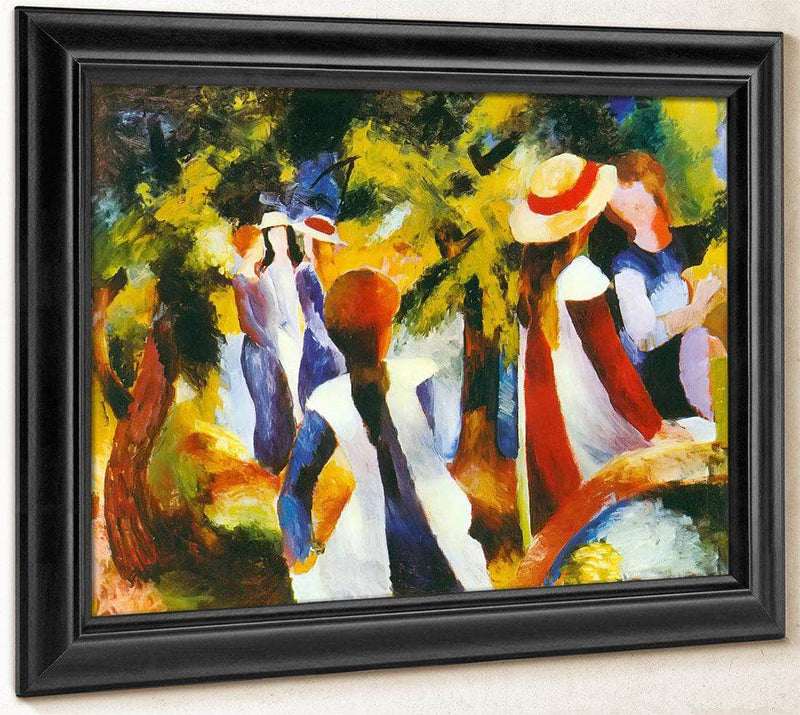 Young Girls Under The Trees By August Macke