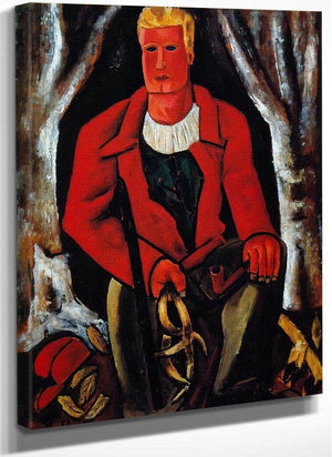 Young Hunter Hearing Call To Arms By Marsden Hartley