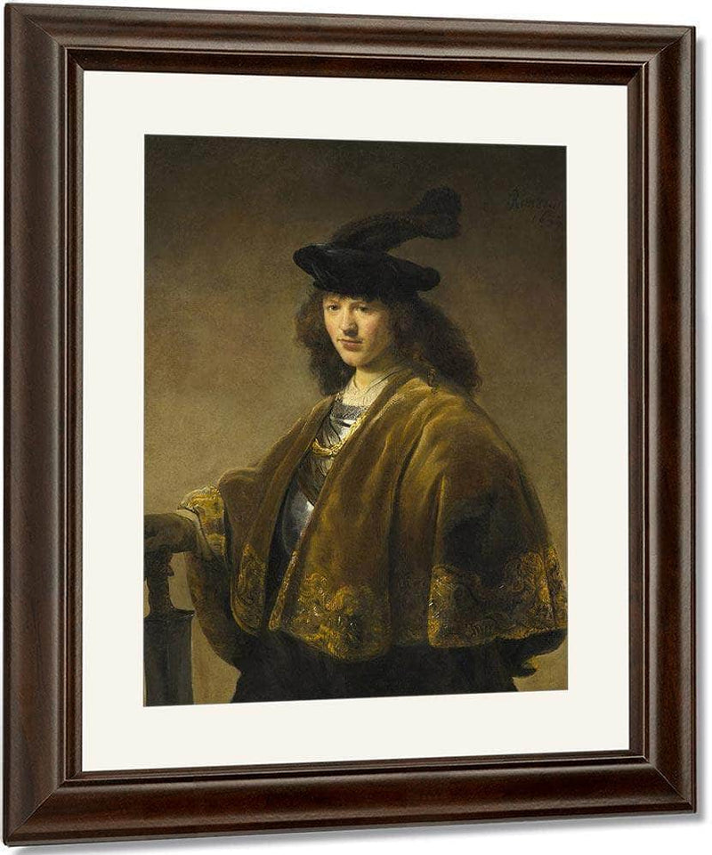 Young Man With A Sword By Rembrandt