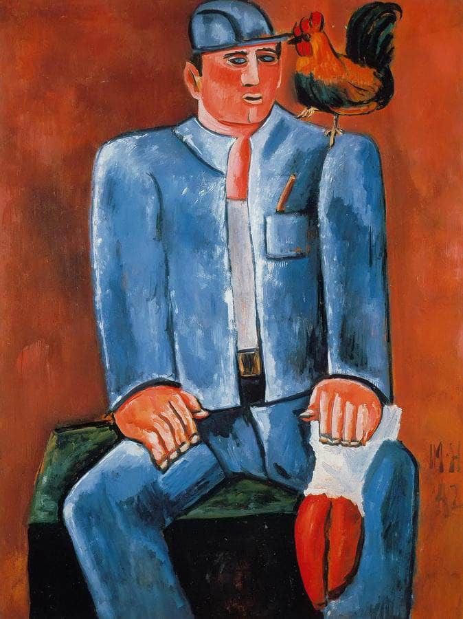 Young Seadog With Friend Billy By Marsden Hartley
