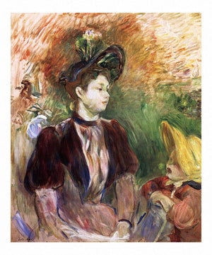 Young Woman And Child Avenue Du Bois by Berthe Morisot Wall Art from Truly Art