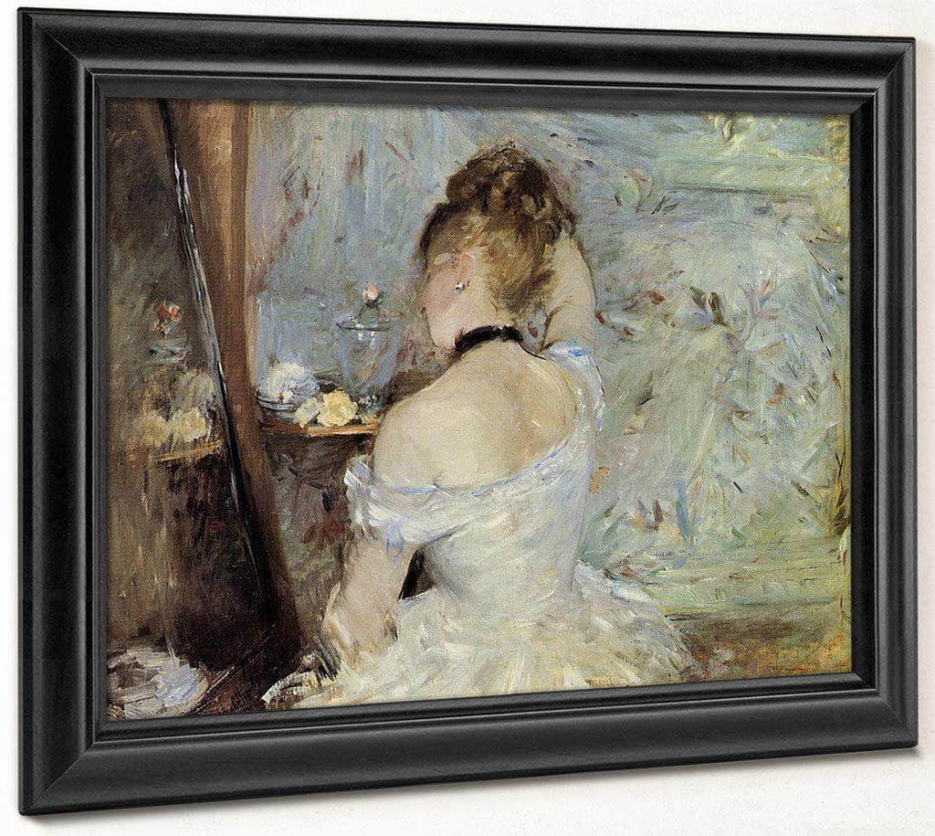 Young Woman At The Mirror 1880 Oil On Canvas 6030X8040Mm Art Institute Of Chicago By Berthe Morisot