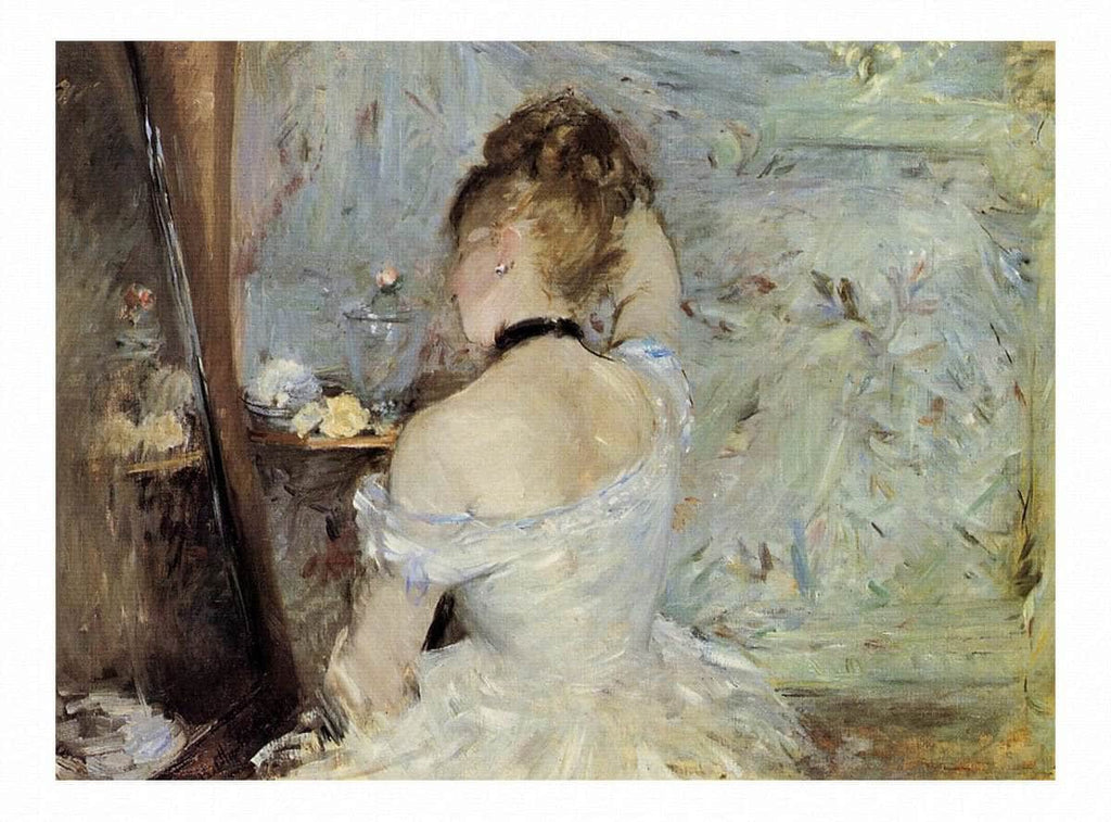 Young Woman At The Mirror by Berthe Morisot Wall Art from Truly Art