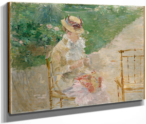 Young Woman Knitting 1883 By Berthe Morisot