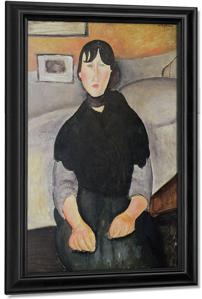 Young Woman Of The People (Oil On Canvas) By Amedeo Modigliani