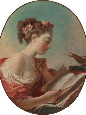 Young Woman Reading By Jean Honore Fragonard