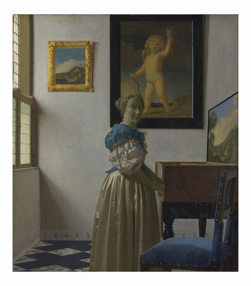 Young Woman Standing At A Virginal 1672 by Johannes Vermeer Wall Art from Truly Art