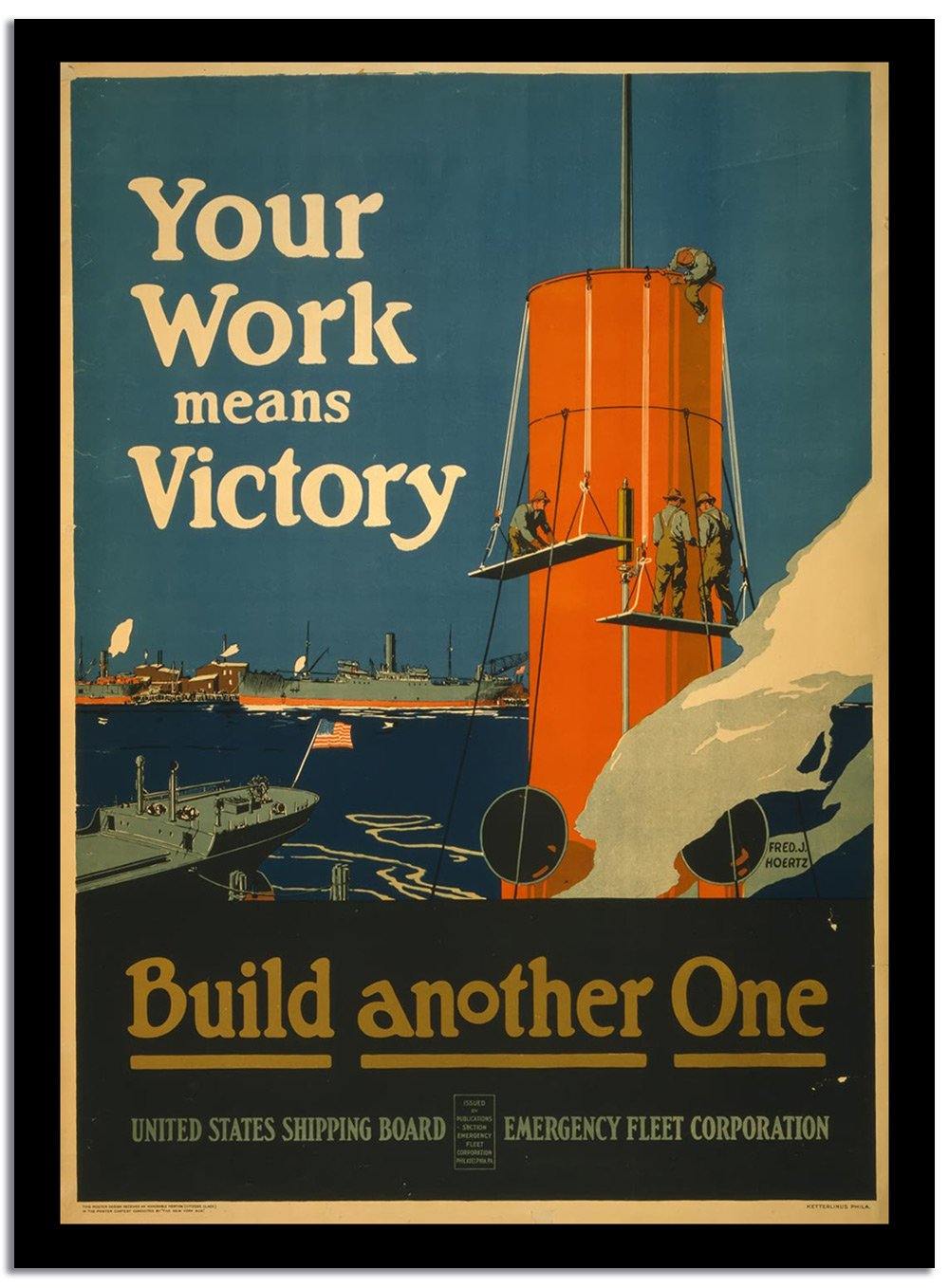 Your Work Means Victory  Vintage Poster