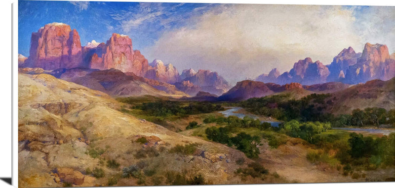 Zion Valley, South Utah Painting Thomas Moran Canvas Art
